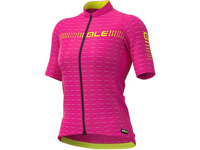 Alé Cycling Graphics PRR Green Road SS Jersey Women cyclamen/fluo yellow